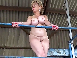 Public Nudity Lady Sonia strips out of her dress in public