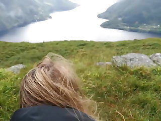 Norwegian Me and my ex-boyfriend on a trip in Norway