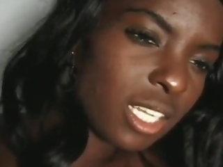 African Black & ebony twin girls sucks & fucks white dick - Part 2