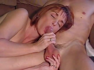 Russian Mature suck and cum