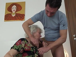 Masturbating granny Norma did not notice how nephew brou