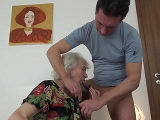 Hungarian Masturbating granny Norma did not notice how nephew brou