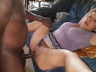 JOI Mature Enjoys Big Black Cock While Dirty Talking to Husband