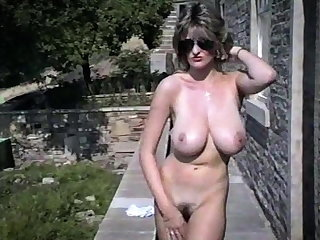 Tits LAVENDER - vintage British huge tits striptease