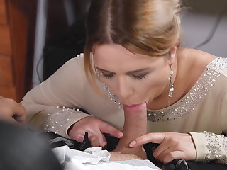 Hentai Busty office colleague Nikky Dream gives stud blowjob at wor