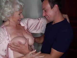 Gaping Granny Norma Is Having an Affair