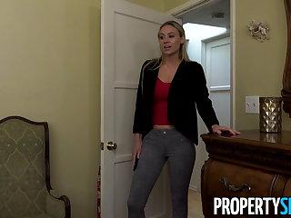 Funny PropertySex - Hot blonde MILF landlady fucks her tenant