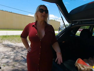 Serbian Roadside - Curvy Blonde MILF Fucks Horny Mechanic