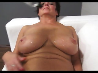 Yoga busty old milf - still in need of fat cock