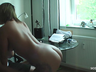 Russian German Sister Catch Step Bro Watch Porn and help with Fuck