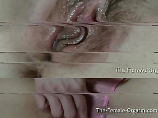 Vibrator Closeup Dripping Wet Contracting Pussy Orgasm Compilation