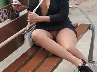 Foot Fetish Dressed frivolously in public