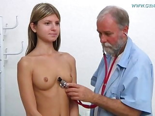 Russian Gina Gerson visits her gynaecologist
