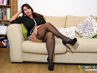 Danish EuropeMature Horny Josephine and her vibrating toy