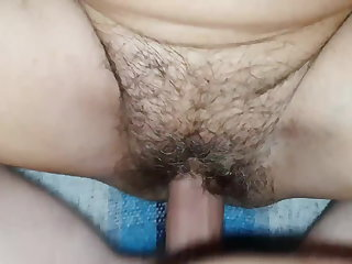 Hairy granny doubble orgasm