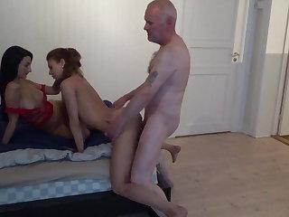 Escort 3 whores & pervert grandpa Ulf Larsen!