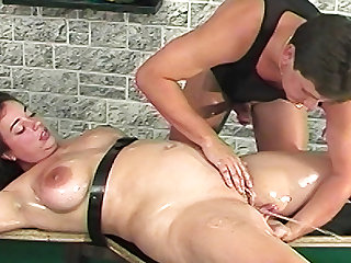 Hogtied oiled bbw stepsister squirting