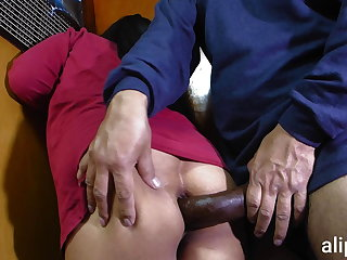 Latex Giant cock pierces my ass and I scream in pain and pleasure