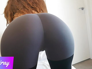 Yoga Please Cum in My Panty and Yoga Pants after Rubbing My Pussy