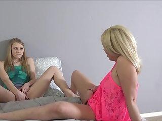 Lesbians Stepdad's Good Girls - Lily Rader & Rikki Rumor