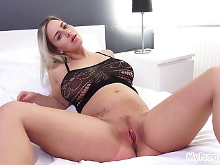 Nathaly Cherie Fucks Herself with Her Purple Vibrator! Nathaly Cherie