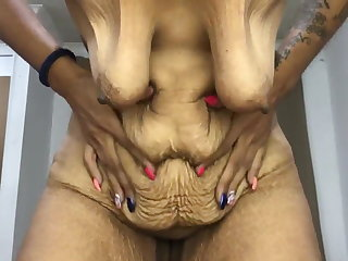 Colombian Old saggy skinny Latina, beautifully aged Colombian granny